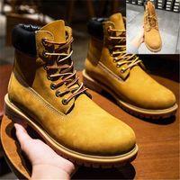 New Good Quality Brand Mens Women T Winter Boot Chestnut Triple Womens Work Martin Snow Combat Boots Bootie 36 -45