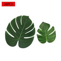 Decorative Flowers & Wreaths 30PCS Tropical Leaves Palm Imitation Plant For Home Garden Party Decor Wedding DIY Decoration Arrangement 2021