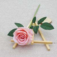 Шелковый розовый цветок Искусственные розы с длинными стеблями для DIY Свадебные букеты Центральные чашки Свадебный душ Вечеринка домашнего декора EWA4340