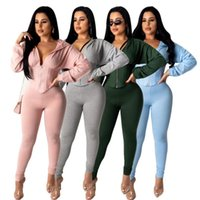 Outfits Matching Sets Sets 2021 Tracksuit Women Festival Clothing Fall Winter Top+Pant Suits 2 Piece Club Two Piece Womens