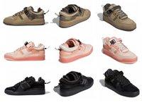 2021 Klasik erkek ve kadın Koşu Ayakkabıları Kötü Pembe Bunny Forum Düşük Kahverengi Üçlü Siyah Moda Stil Çift Açık Rahat Sneakers Yüksek Kalite Boyutu 36-45 Kutusu Ile