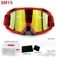 Motosiklet Kaskları 3 ADET Filmleri + Şeffaf Lens Güneş Gözlüğü Motocross Koruyucu MX Gece Görüş Kask Gözlük Sürücü Sürüş Gözlük SM15