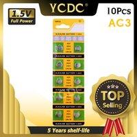 YCDC 10PCS 1.55 فولت AG3 LR41 392 بطاريات زر SR41 192 L736 384 SR41SW CX41 خلية عملة البطارية القلوية لمشاهدة اللعب النائية