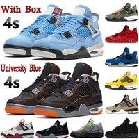 Kutu 4 4 S Erkek Basketbol Ayakkabıları Üniversitesi Mavi Metalik Mor Siyah Kedi Denizyıldızı Bred Se Neon Kaktüs Jack Erkek Kadın Sneakers