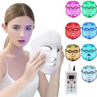 7 Color Led Facial Mask Skin care Rejuvenation Wrinkle Acne Removal Therapy Whitening Tighten Beauty equipment