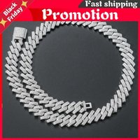 Chains Iced Out For Men Miami Cuban Link Necklace Luxury Micro Paved Cz Chain Fashion Hop Jewelry