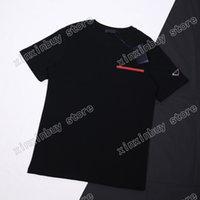 21SS Uomo stampato t camicie manica triangolo lettere vestiti vestiti rosso etichetta uomo tag lettera polo nero bianco kaki 05