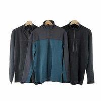 الرجال هوديس أزياء مصممين صوف وبساطة معطف الترفيه كم طويل الرياضة الحياكة ذوي الياقات العالية أعلى سوياتشيرتس كبيرة الكمال للجينز والسراويل