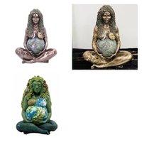 2021 anne toprak tanrıça gaia dekorasyon heykeli reçine malzeme el sanatları ev oturma odası çalışma sanat 3 stilleri