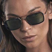 2021 DPZ Moda Tony Stark Fli Tarzı Sunglass Erkekler Kare Yangın Dign Sunglass Kadın Gözlük Retro Erkek UV400