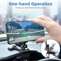 Mount, Cell Holder 360 Degree Rotation Dashboard Clip Mount Car Stand 4-7inch Mobile Phones
