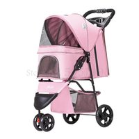 Light Folding Pet Trolley Dog Cat Teddy Cage Three Wheels Traveling Supplies Car Seat Covers
