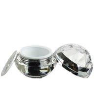 30g leerer Luxus-Diamant-Kugel-Acrylcreme-Container-Gold-Augencreme-Probe-Kosmetik-Glas, Kosmetik-Verpackungs-Topf