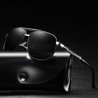 نظارات شمسية استقطاب رجل ماركة مصمم 60 ملليمتر الطيار الطيران القيادة للذكور النفوذ نظارات uv400 gafas sol hombre