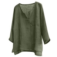 Men's Casual Shirts Mens Brief Breathable Comfy Solid Color Long Sleeve Loose Shirt Blouse Office Linen Plus Size