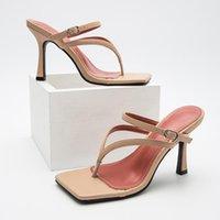 Sandals KM-ROYA Fashion Sexy Women 10CM Thin High Heel Pumps Big Size 41-42 Summer Ladies Flip Flops Outdoor Shoe Slides