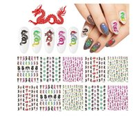Dragon Nail Stickers Traditional Chinese Image Fingernail Decals For DIY & Salon