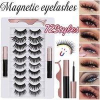False Eyelashes Magnetic Soft Long Cilios Postiço Or Non-magnetic Reusable Mink Fake Natural Handmade Lashes Set