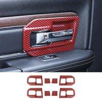 Rote Kohlefaserinnen Türschüssel Griff Abdeckungsverkleidung für Dodge RAM 1500 11-17