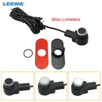 Car Rear View Cameras& Parking Sensors LEEWA 10pcs 16.5mm Original Flat Sensor With 2.5m Line Radar Parktronic Assistance 3-Color #CA3743