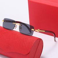 Frameless Designer Sonnenbrille 2339 Frauen / Mann Mode Square Sommer Stil Full Frame Top Qualität UV 400 Schutz Kommen Sie Original Box