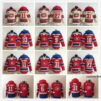 몬트리올 Canadiens 후드 6 Shea Weber 31 캐리 가격 Patrick Roy 11 Brendan Gallagher 67 Max Pacioretty Alex Galchenyuk Hoody Sweatshirts.