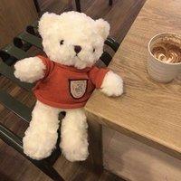 Cute red sweater plush teddy bear birthday gift doll
