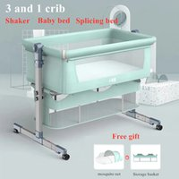 Newborn crib stitching bed removable and folding portable bionic baby cradle bed bb crib bed free mosquito nets