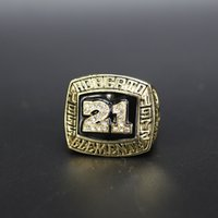 MLB Baseball Hall of fame championship ring 1955 1972 star Roberto Clemente front 21 numbers