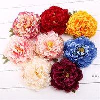 14 cm peonia fiore testa di seta artificiale grandi fiori per accessori per capelli bohémien wedding fai da te corona decorativa corona floreale floreale floreale OWA4322
