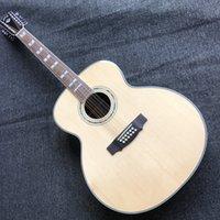 43 inches 12 snaren gilde akoestische gitaar massief vuren top 12-snarige folk guitare akoustique palissander fretboard