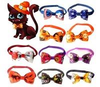 Dog Odzież Pet Bow Tie Halloween Cosplay Krawat Regulowany Zwierzęta Bowlies Collar Dogs Akcesoria Grooming Produkty 10 Styl
