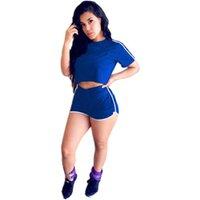 Bayan Eşofman İki Adet Kıyafet Kadın Kırpma Üst Pantolon Set Panelli Renkler Kıyafetler Rahat Sweatsuits Jogging Jogger Sportwear