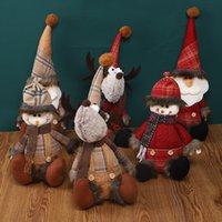 Merry Christmas Stuffed Plush Decoration Doll Swedish Santa Elk Snowman Figure Xmas Tree Ornament Toy Gift for Children
