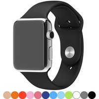 Silicone Smart Watch Correas para Apple Iwatch 6 5 4 3 2 38mm 40mm 42mm 44mm bandas