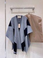 Milan Runway Cape 2021 Autumn Winter Women's Coats High End Jacquard Women's Designer Outerwear 1011-19