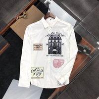 2021 hombres Casual Camisa Tamaño M-3XL Mans Mans Business Shirts Hombre Tee Camiseta de manga corta para hombre Camiseta con letras Imprimir manga corta # D83