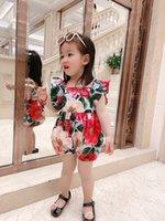 2021 de alta calidad de verano bebé mamelucas princesa una pieza muelos con ropa ropa de algodón corta mameluco ropa infantil