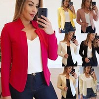 Women's Jackets Women Blazer Autumn 2021 Solid Jacket Slim Coat Spring Clothes Outerwear Suit Casual Tops Split Design Office Lady Red Fashi