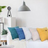 أزرار عادي وسادة حالة وسادة غطاء للخصر المنزلية تشنيل الاسكندنافية نمط أريكة الوسائد يغطي وسادة OWB9118