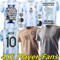 2021 Argentinien Maradona Messi Fußball-Trikots 200-jähriges Jubiläum Kun Agüero di Maria Lo LO Celso Martinez Correa Special Edition Männer Kinder Kits Football Jersey Hemden 4XL