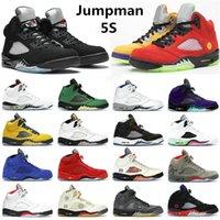 Erkekler Kadınlar Jumpman 5s Basketbol Ayakkabıları 5 Laney Sarı Yelken Alternatif Üzüm Yangın Kırmızı Oregon Ördekler Yüksek Kalite Erkek Spor Eğitmenleri Sneakers