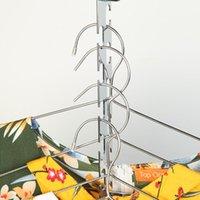 Hangers & Racks 8 10pcs Stainless Steel Wardrobe Hanger Adjustable Multifunctional Hanging Clothing Organizer Save Space Storage
