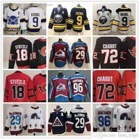 2021 Retro Retro Hockey sobre hielo 9 Jack Eichel Jersey cosido 18 Tim Stutzle 72 Thomas Chabot 29 Nathan Mackinnon 96 Mikko Rantanen Jerseys