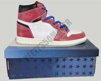2021 ارتفاع أحذية كرة السلة تجميد 1 1 ثانية الكترفة غرفة الأزرق الأربطة شيكاغو كريستال أسفل أحمر أبيض jumpman مصمم مع صندوق og الرجال رياضية رياضية DA2728-100