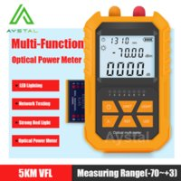 Fiber Optic Equipment Handheld Optical Power Meter 4-in-1 With 5km Red Light -70~+3dBm Tester Network Cable Digital
