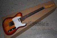 Flame Maple Cuello Instrumento Personalizado Tienda Custom Photo Sandard Vos Sunburst TL Guitarra Eléctrica @ 21