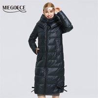 Miegofce kadın kış pamuk giyim uzun pamuk ceket basit tasarım kadın ceket kış parka rüzgar geçirmez ceket 210901