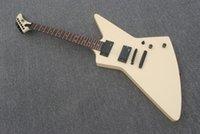 Nueva cremosa blanca 6 cuerdas James Hetfield Guitarra Electric Guitar Ivory amarillo Equipo metálico usado Custom-Guitar Rosewood Fetboard Guitarra