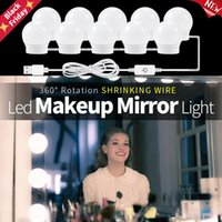 12V Makeup Lamp Wall Light Beauty 2 6 10 14 Bulbs Kit For Dressing Table Stepless Dimmable Hollywood Vanity Mirror Lamps